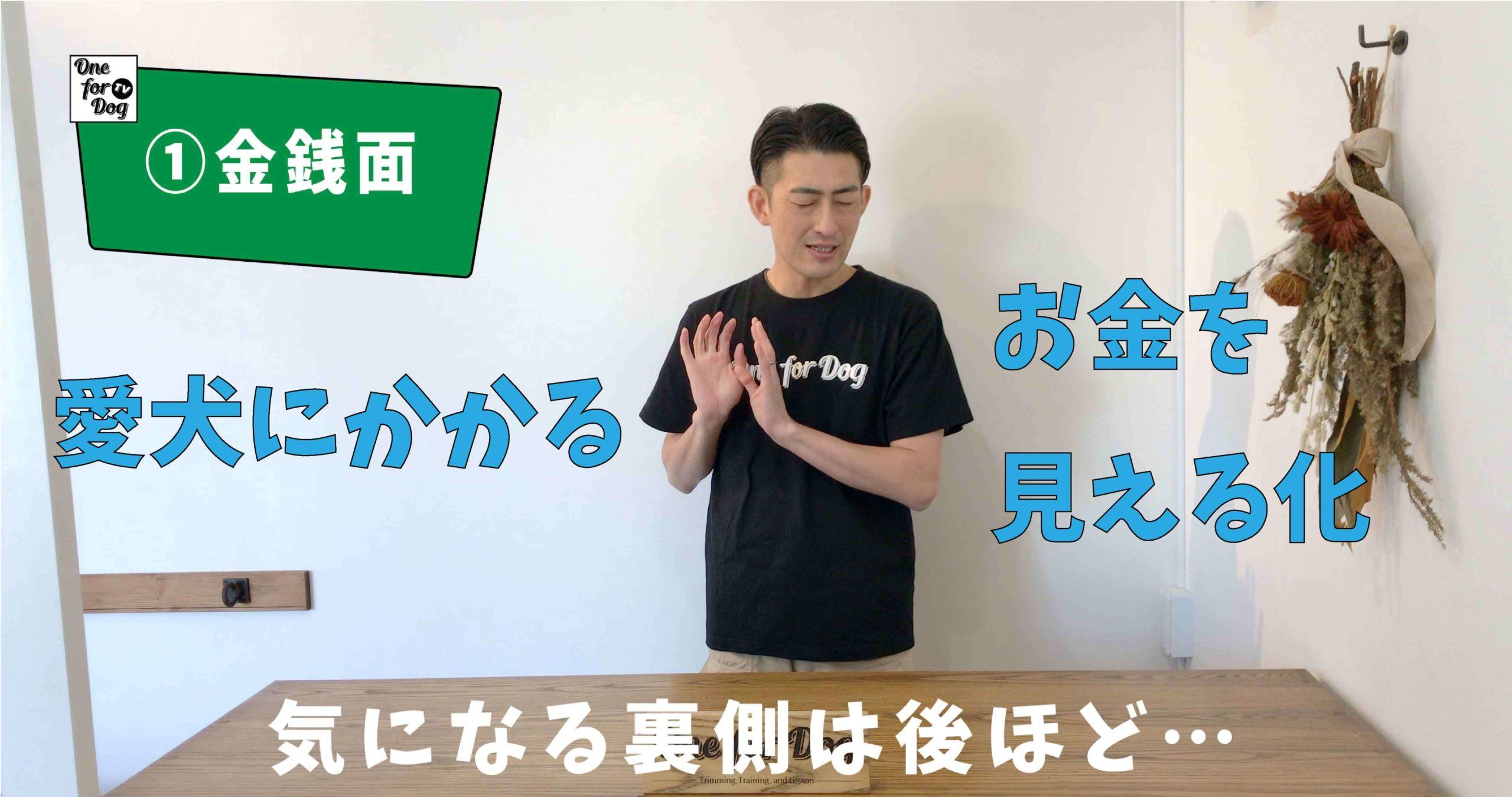 """オンラインセミナーVo.2【犬を飼う前に知っておきたいこと】""""金銭面"""""""
