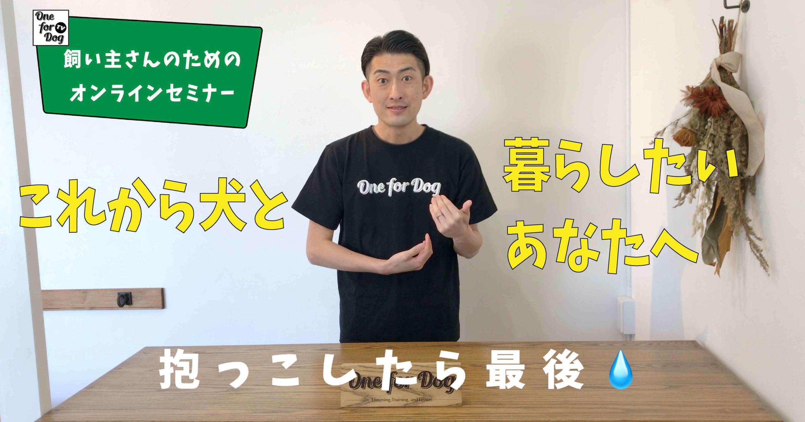 """オンラインセミナーVo.1【犬を飼う前に知っておきたいこと】""""はじめに。"""""""